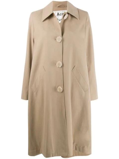 Acne Studios Single-breasted Menswear Mac Inspired Coat In Neutrals
