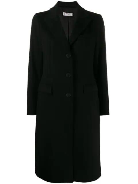 Alberto Biani Single Breasted Coat In Black