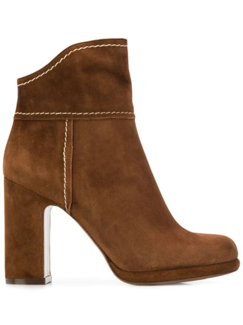 L'Autre Chose High Heeled Ankle Boots In Tmoro
