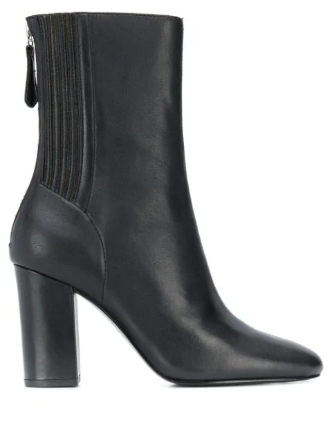 Ash High Heeled Ankle Boots In Black