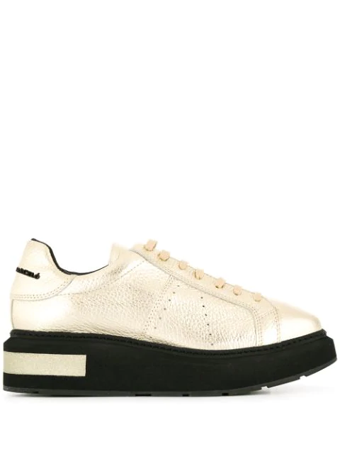 Paloma BarcelÓ Platform Low Top Sneakers In Platino