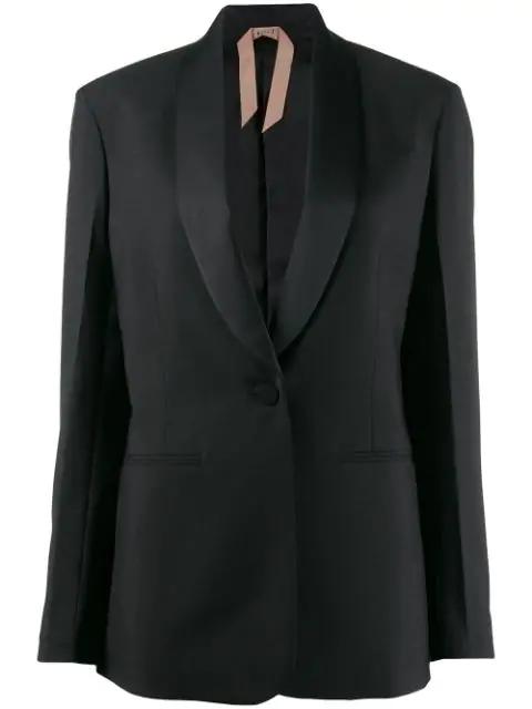 N°21 Shawl Collar Blazer In Black