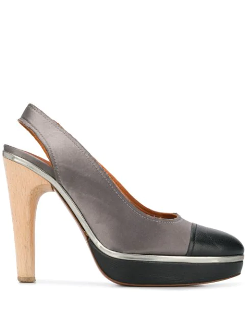 Lanvin 2009's Two-tone Pumps In Grey