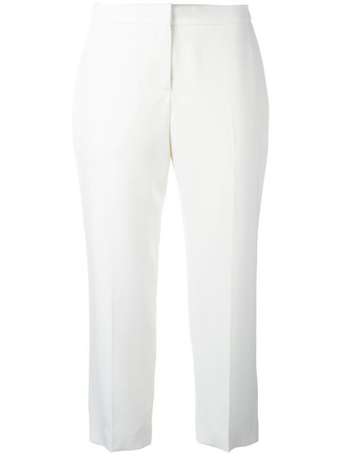 Alexander Mcqueen Mid-rise Kick-flare Wool-blend Cropped Trousers In White