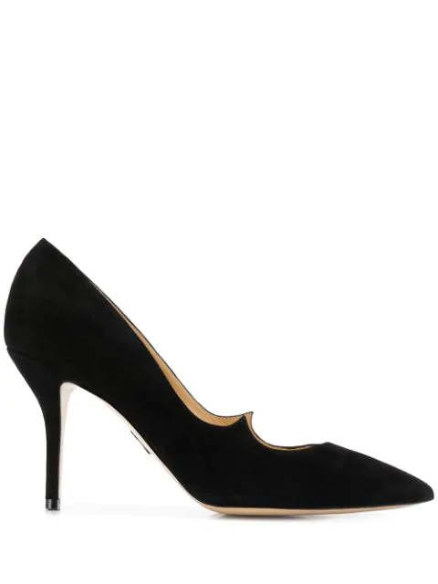Paul Andrew Pointed Toe Pumps In Black