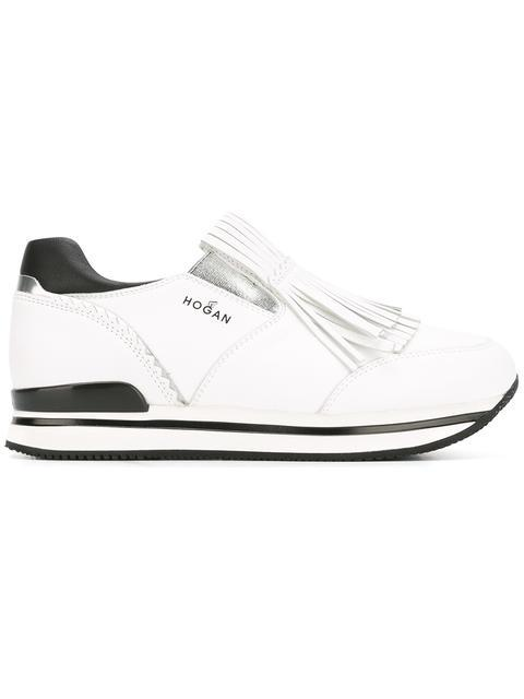Hogan White H222 Slip On Leather Sneakers