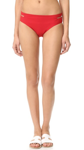 Alexander Wang Fish Line Detail Bikini Bottom In Vermillion