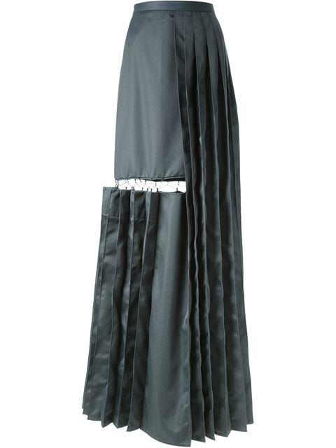 Chalayan Cutout Detail Pleated Long Skirt