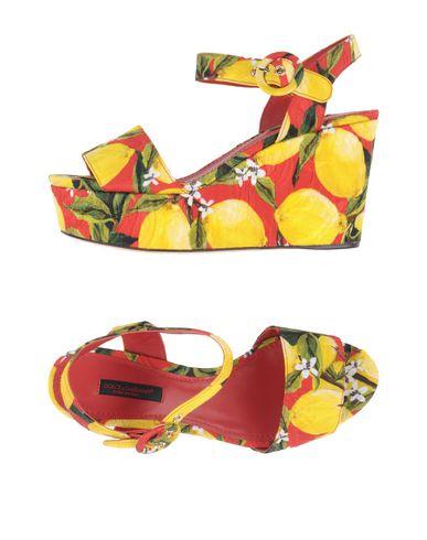 Dolce & Gabbana Sandals In Yellow