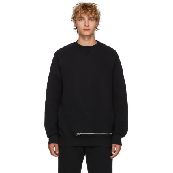 Sacai Black Sponge Sweatshirt In 001 Black