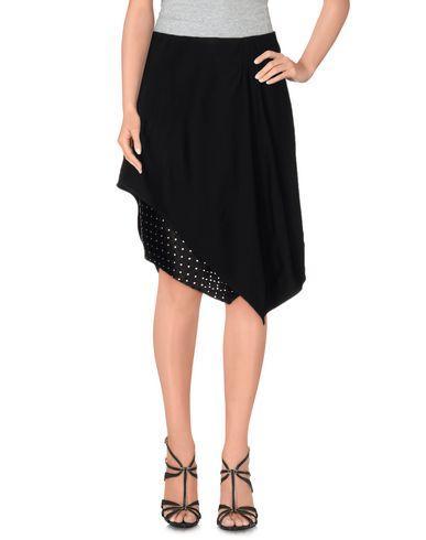 Jay Ahr Knee Length Skirts In Black