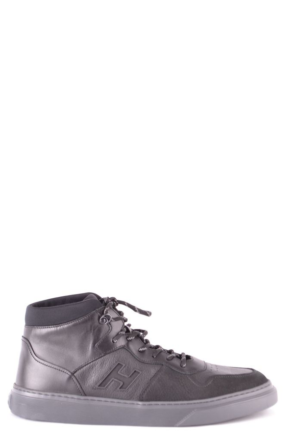 Hogan Men's Black Leather Hi Top Sneakers