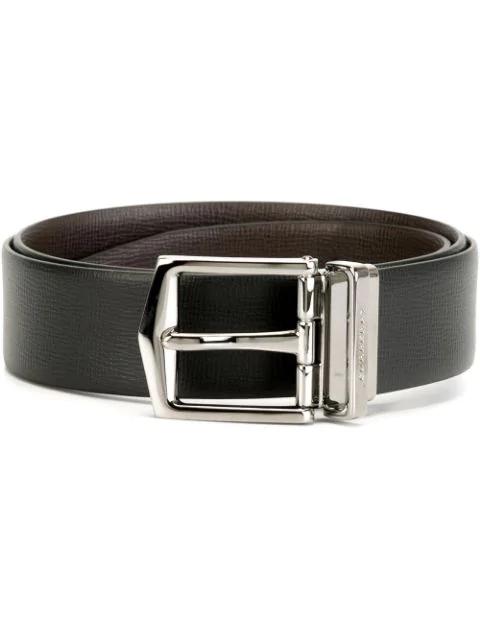Burberry 3.5cm Black And Brown Reversible Full-grain Leather Belt