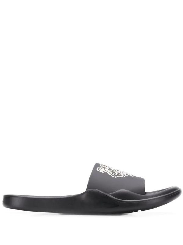 Kenzo Men's Black Pvc Sandals