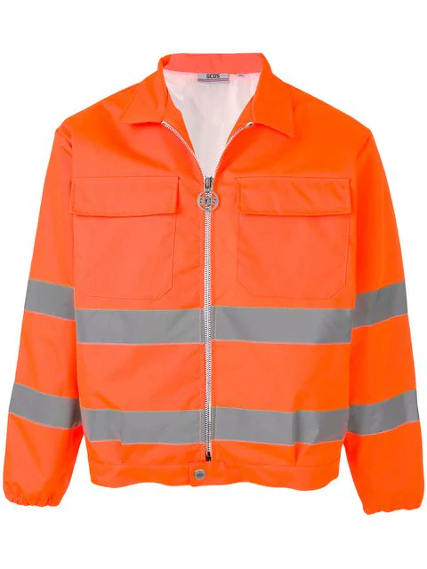 Gcds Orange Polyamide Jacket In 12 Arancio Fluo