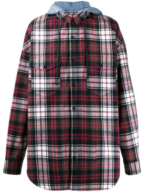 Juun.j Multicolor Cotton Jacket In Red/blue/green/white