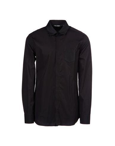 Neil Barrett Solid Color Shirt In Black