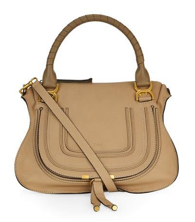 ChloÉ Medium Marcie Shoulder Bag In Clay Beige