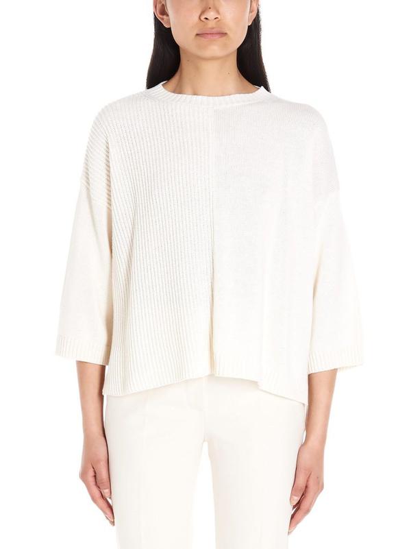Weekend Max Mara Weekend By Max Mara Women's White Cotton Sweater
