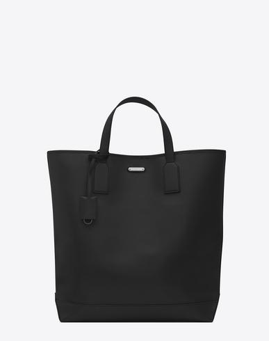 Saint Laurent Id Shopping Bag In Black