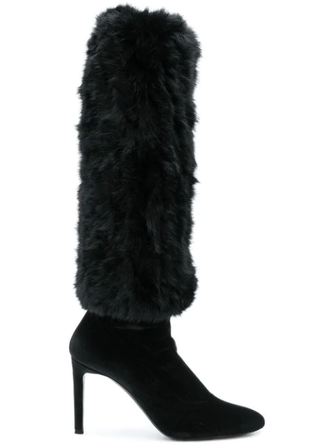 Giuseppe Zanotti Black Leather Boots In Sm000 Black