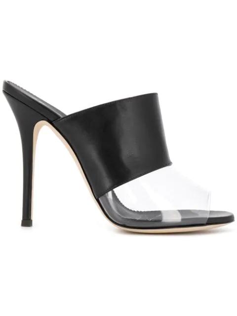 Giuseppe Zanotti Panelled Sandals In Black