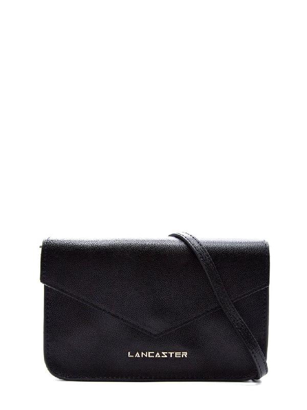 Lancaster Fold Over Logo Clutch Bag In Black