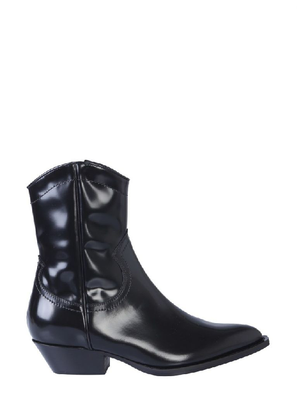 Philosophy Women's Black Leather Ankle Boots