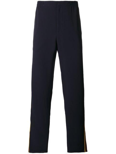 Alexander Mcqueen Straight-leg Trousers - Blue