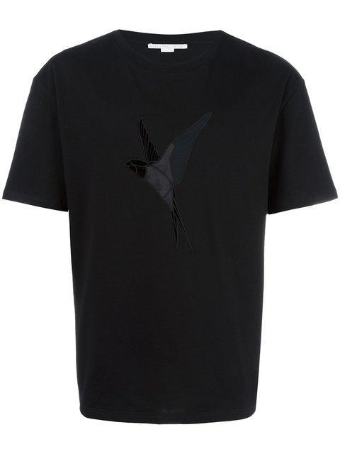 Stella Mccartney Hummingbird Embroidered T-shirt In Black