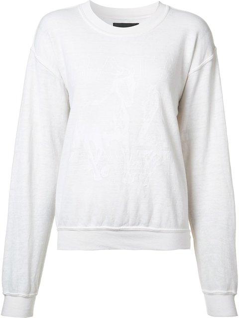 Baja East Round Neck Sweatshirt