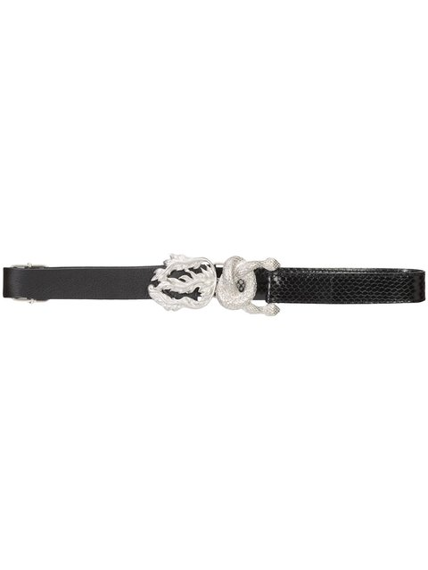 Maison Margiela Carinata Snake Buckle Belt - Black