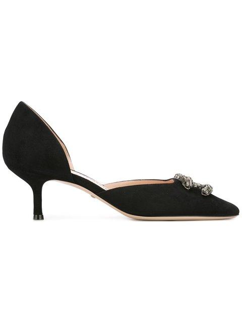 Gucci Dionysus Kitten-heel Suede Pumps In Black
