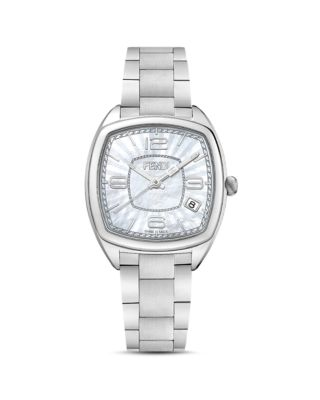Fendi Momento Square Bracelet Watch, 32mm In Metallic