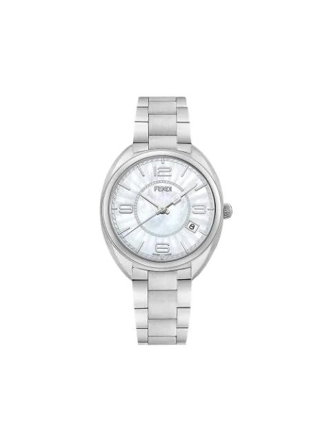 Fendi Momento Mother Of Pearl Bracelet Watch, 34mm In Metallic