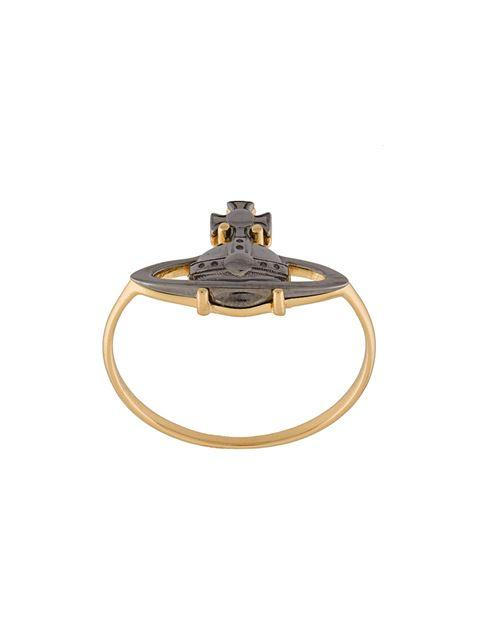 Vivienne Westwood 'suzie' Ring In Metallic