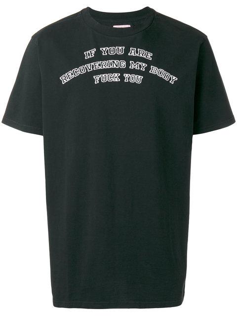 Palm Angels Kill T-shirt In Black