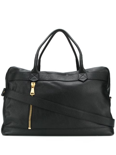 Tagliatore Large Leather Holdall Bag In Nero