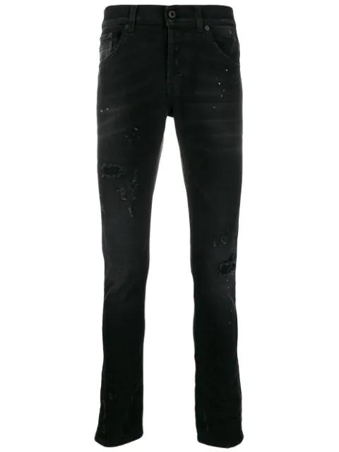 Dondup Distressed Slim In Black