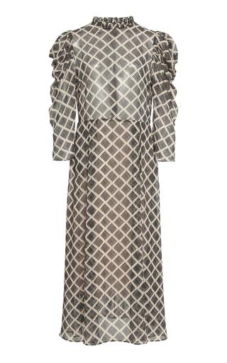 Hofmann Copenhagen Carla Printed Puff Sleeve Dress In Multi