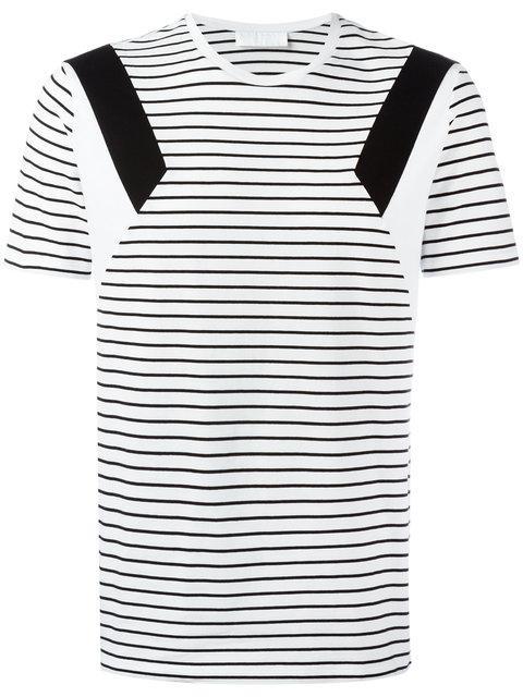 Neil Barrett 'modernist' Panel Stripe Cotton T-shirt