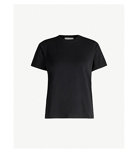 Ba&Sh Regular-Fit Cotton-Jersey T-Shirt In Noir