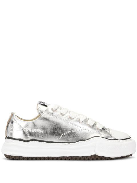 Miharayasuhiro Sneakers Im Metallic-Look In Silver