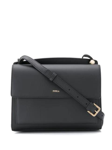 Furla Flap Crossbody Bag In Black