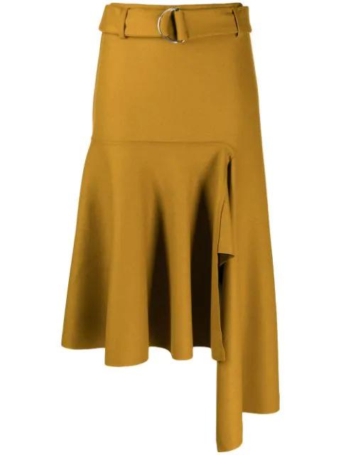 Smarteez Asymmetric Hem Skirt In Neutrals