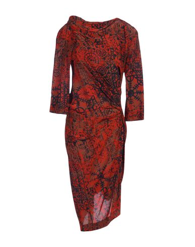 Vivienne Westwood Anglomania 3/4 Length Dresses In Rust
