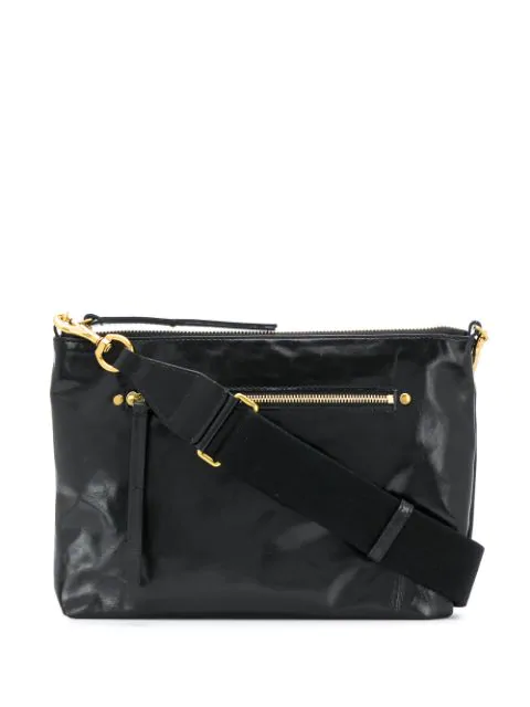 Isabel Marant Nessah Shoulder Bag In Black
