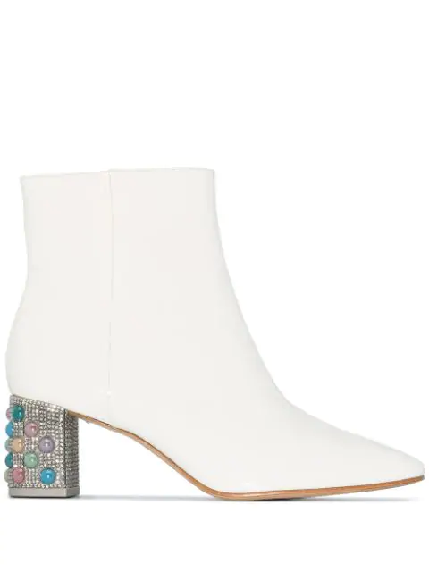 Sophia Webster Toni 60 Ankle Boots In White