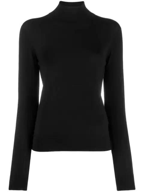 Theory Sweater Turtle Neck Merino Wool In Black