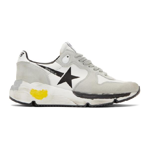 Golden Goose Running Sole Sneakers In Grey